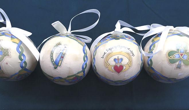 Ornaments, Irish Weave Gloss Baubles
