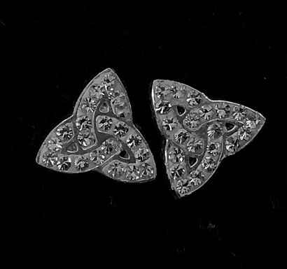 Sterling Silver Trinity Knot Stud Earrings with Cubic Zirconia