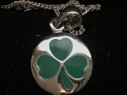 Shamrock with Green Enamel