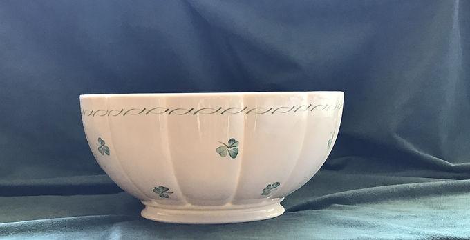 """Belleek Emerald Isle 11"""" Bowl"""