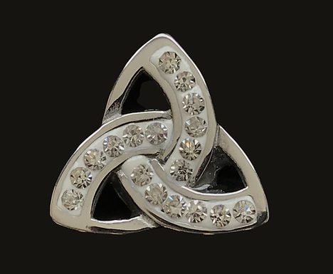 Sterling Silver Trinity Knot Tie Pin