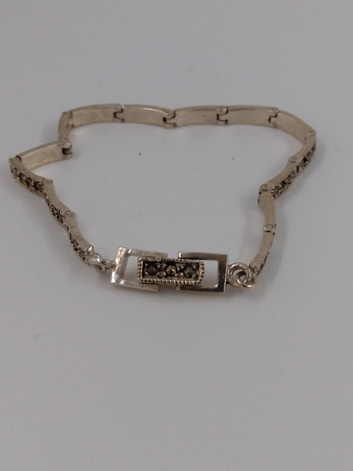 Marcasite and Sterling Silver Bracelet.