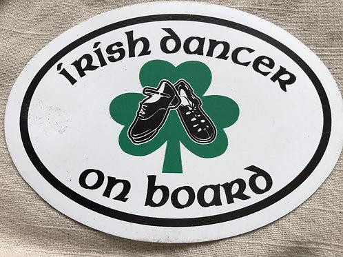 """Irish Dancer on Board"" Magnet"