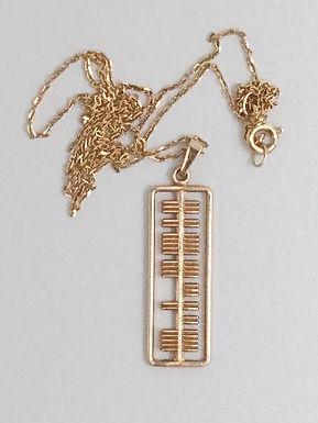 14K Gold Ogham Necklace, by Brian DeStaic