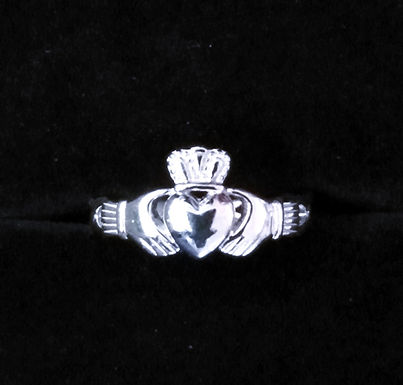Claddagh Ring with Open Braded Band