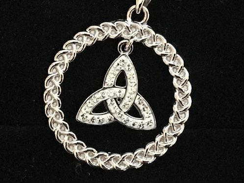 Swarovski Crystal Trinity Knot Necklace