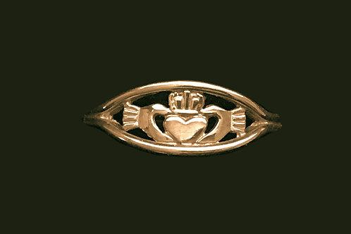 Unique Design 14K Gold Claddagh Ring