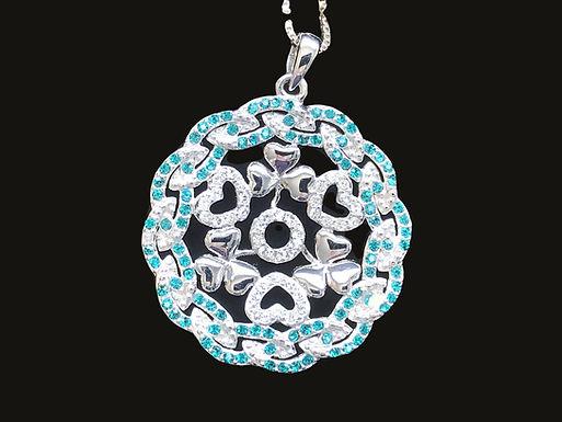 Shamrock Pendant Embellished With Swarovski Crystal