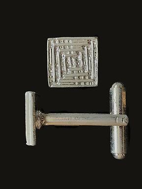 Square Silver Celtic Cufflinks