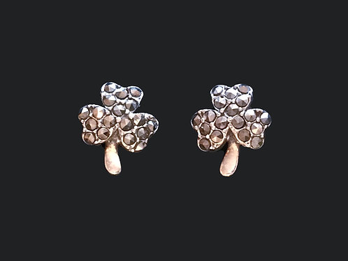 Marcasite Shamrock Earrings by anu of Ireland