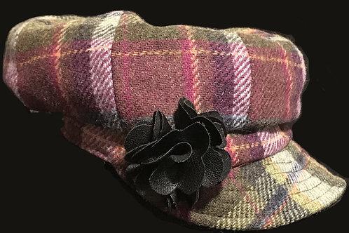 Ladies Tweed Newsboy Hat