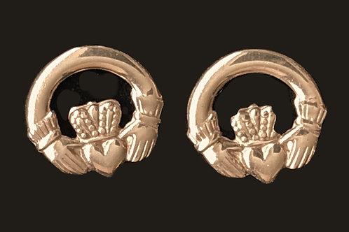 Anu Celtic Jewelry - 10K Gold Claddagh Earrings