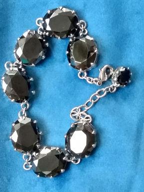 Newbridge Silverware Greta Garbo Black Onyx Bracelet