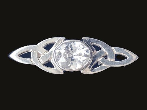 Silver Trinity Knot Brooch Sterling