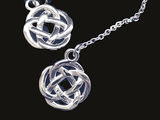 Silver Celtic Knot Drop Earrings by Anu