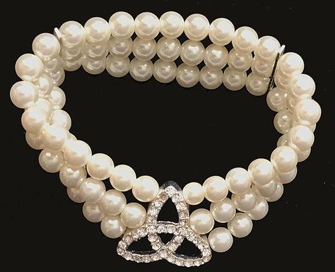 Trinity Knot Costume Pearl Bracelet