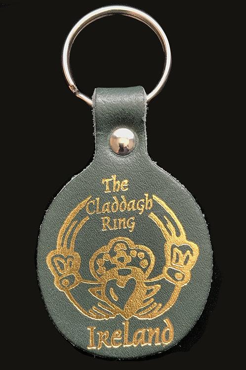 Leather Claddagh Keyring