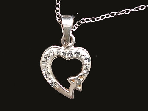 Swarovski Crystal Heart with a Trinity Knot