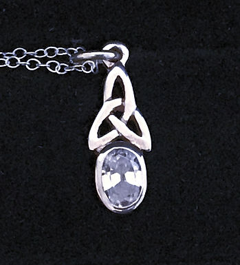 Trinity Knot with Clear Cubic Zirconia