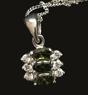 Clear and Green Swarovski Crystal