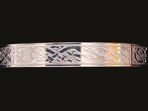 Silver Platted Celtic Warrior Bangel