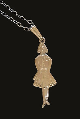 9K Gold Irish Dancer Pendant