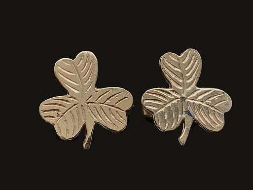 Kit Heath Gold Platted Shamrock Cufflinks
