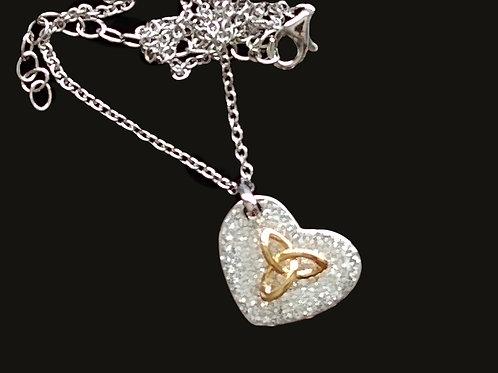 Trinity Knot Pendant with Swarovski Chrystal