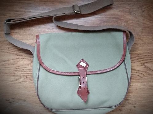 Canvas and Leather Handbag