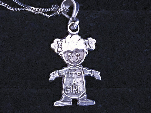 It's a Girl Pendant