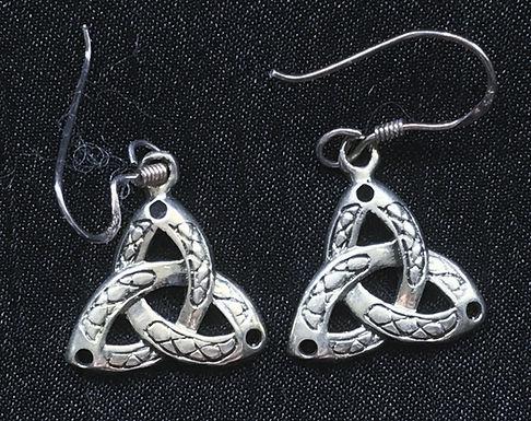 Trinity Knot Drop Earrings with Pattern