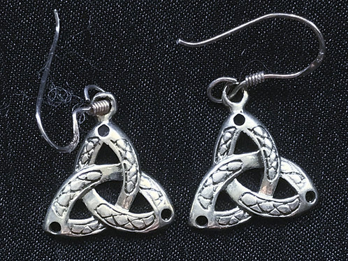 Trinity Knot Drop Earrings with Pattern