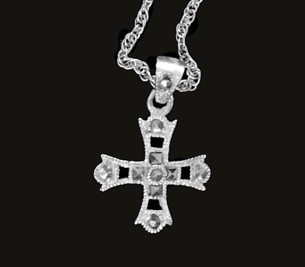 St. Bridgets Sterling Silver and Marcasite Cross
