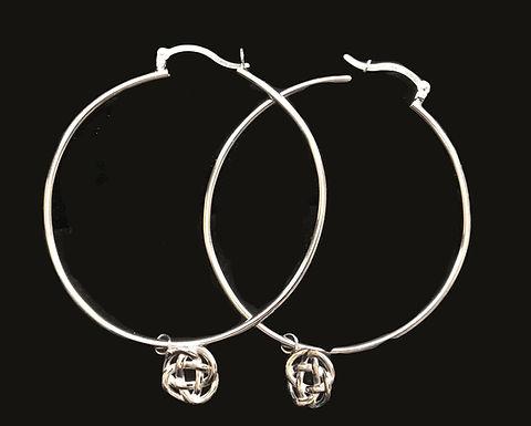 Hoop Earrings with Celtic Knot