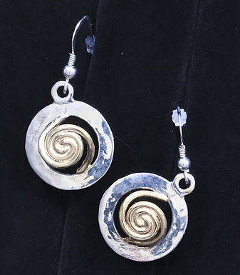 Gold and Silver Celtic Circle Earrings