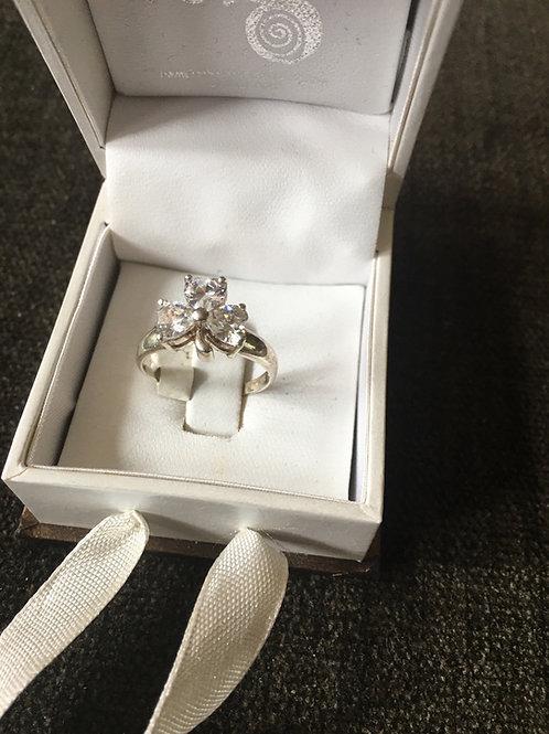 Shamrock Sterling Silver Ring