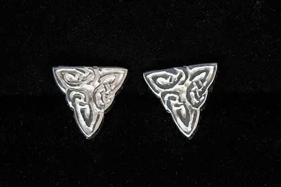 copy of Triangular Knotwork Stud Earring - Small- Sterling Silver