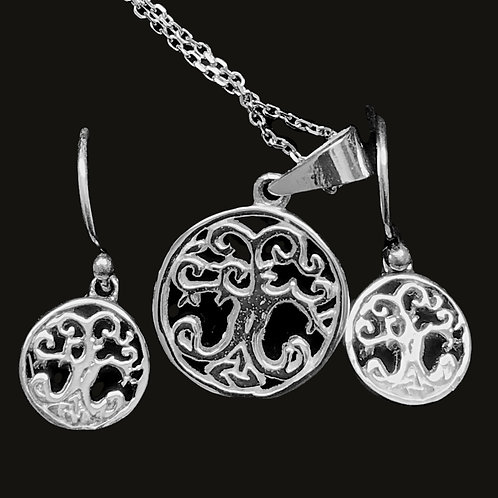 Tree of Life Pendant and Earrings