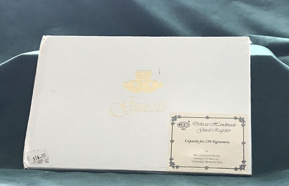 Deluxe Handmade Guest Register with Claddagh Ring Cover