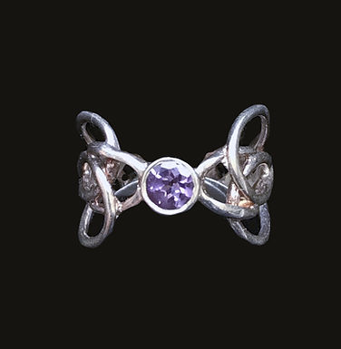 CELTIC SPEAR RING BY BARRY DOYLE purple stone