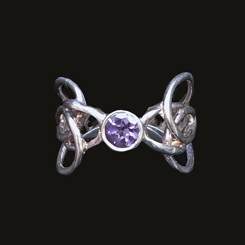 Barry Doyle Design Ring with Amethysts Crystal