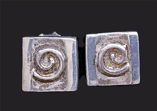 Celtic Circle Stud Earrings