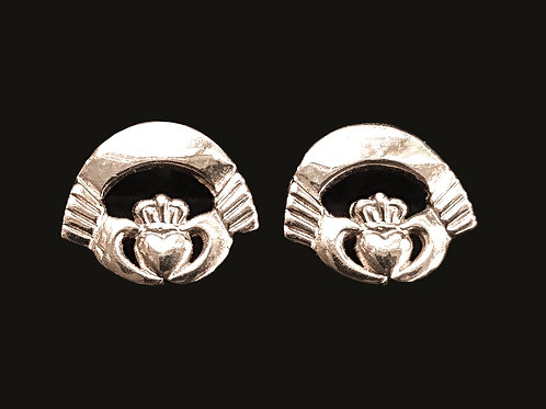 14K Gold Claddagh Earrings