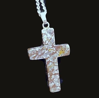 Jasper Cross Necklace