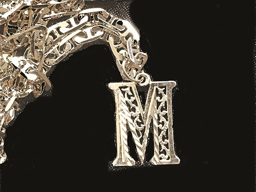 """Gold-Plated """"M"""" Necklace"""