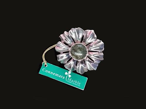 Sterling Silver Brooch with Connemara Marbel