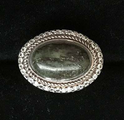 Connemara Marble Oval Ring - Sterling Silver