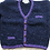 Thumbnail: Crana Handknit Children's Sweater - Blue and Purple
