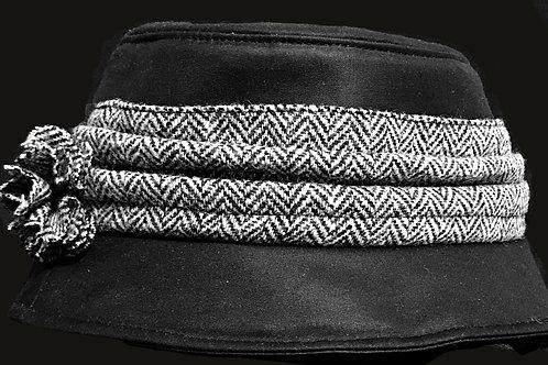 Kate Rain Waxed Hat - Black