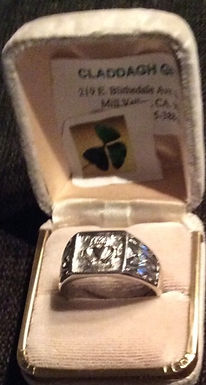 Men's Claddagh Ring with comfort control Sterling Silver